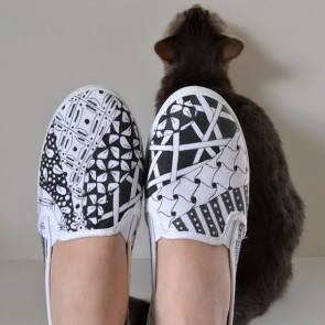 Zentangle up some sneakers