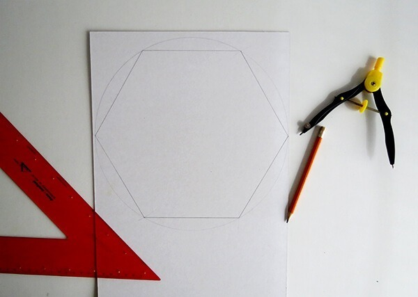 diy hexagon cardboard mobile ohohblog 2