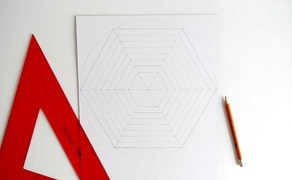 diy hexagon cardboard mobile ohohblog 3