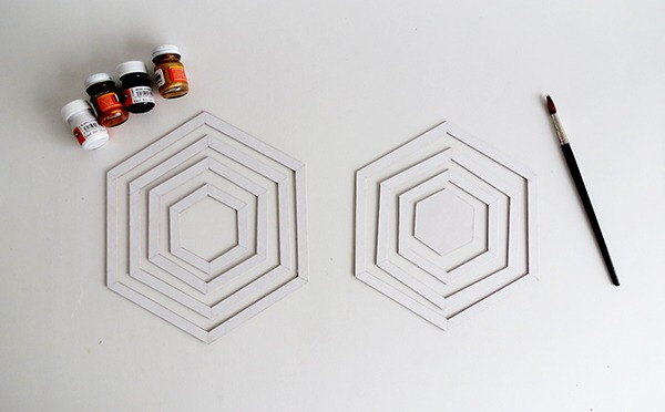 diy hexagon cardboard mobile ohohblog 5
