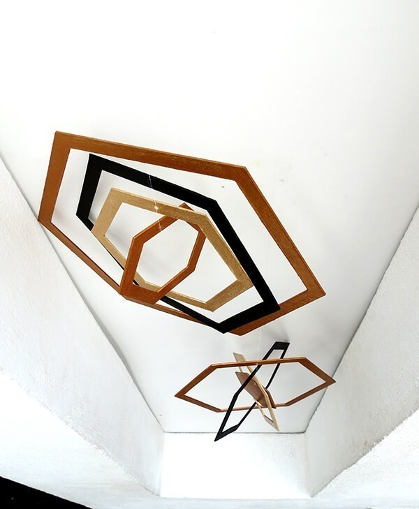 diy hexagon cardboard mobile ohohblog 8