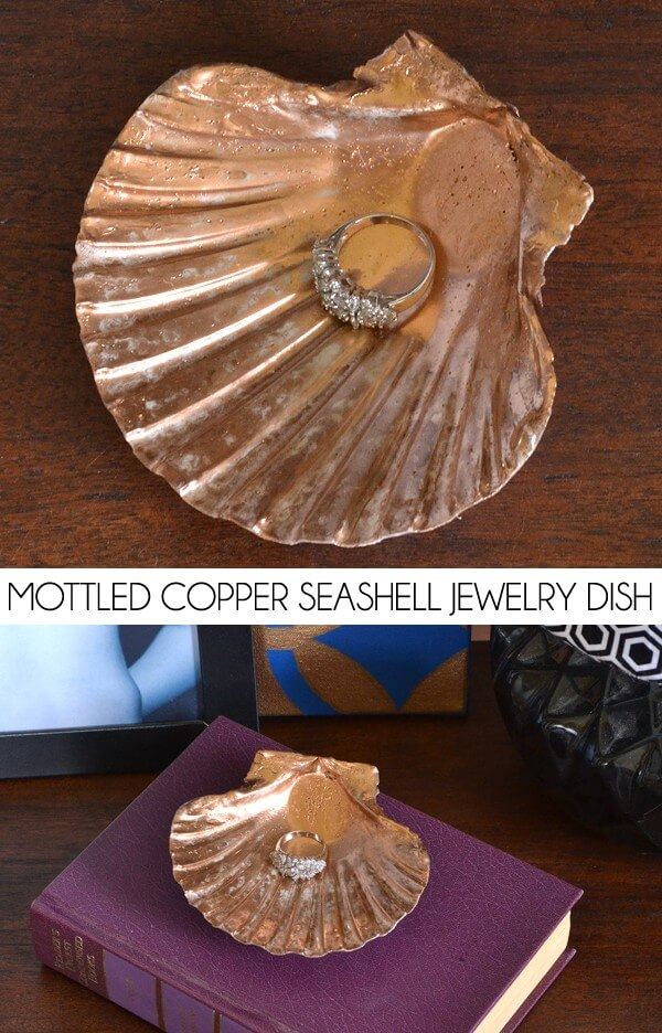 Seaside keepsakes become gorgeous bowls perfect for jewelry or small odds and ends.