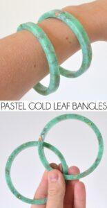 Make high end looking pastel bangle bracelets. SO EASY!