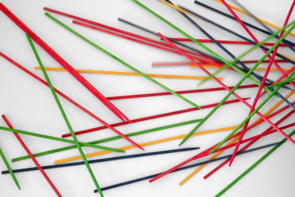 Such a simple kid's game! Loved pick up sticks when I was a kid. And now I can make the littles a set too!
