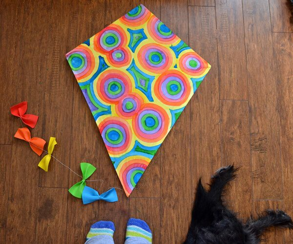 diy paper kites simple diamond kite dream a little bigger