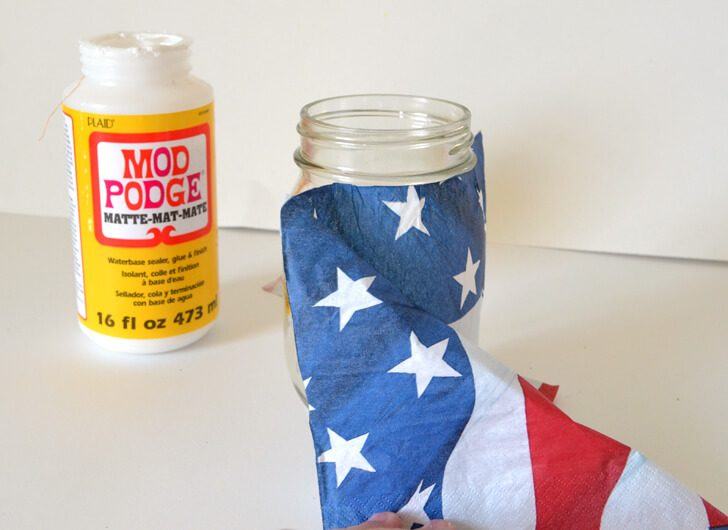 Make easy Fourth of July luminaries to light up the night!