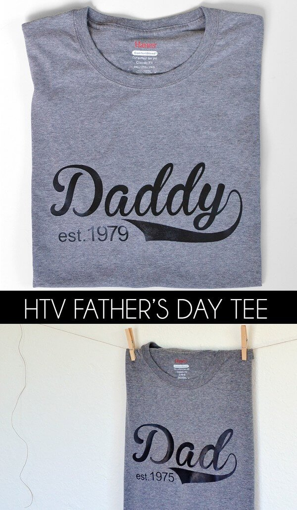This Father's Day tee is super easy and something dad won't feel weird about wearing. Like those cartoon shirts I always tried to get my dad to wear! LOL