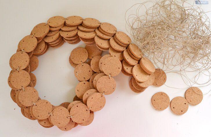 Make a cork rug. So easy!