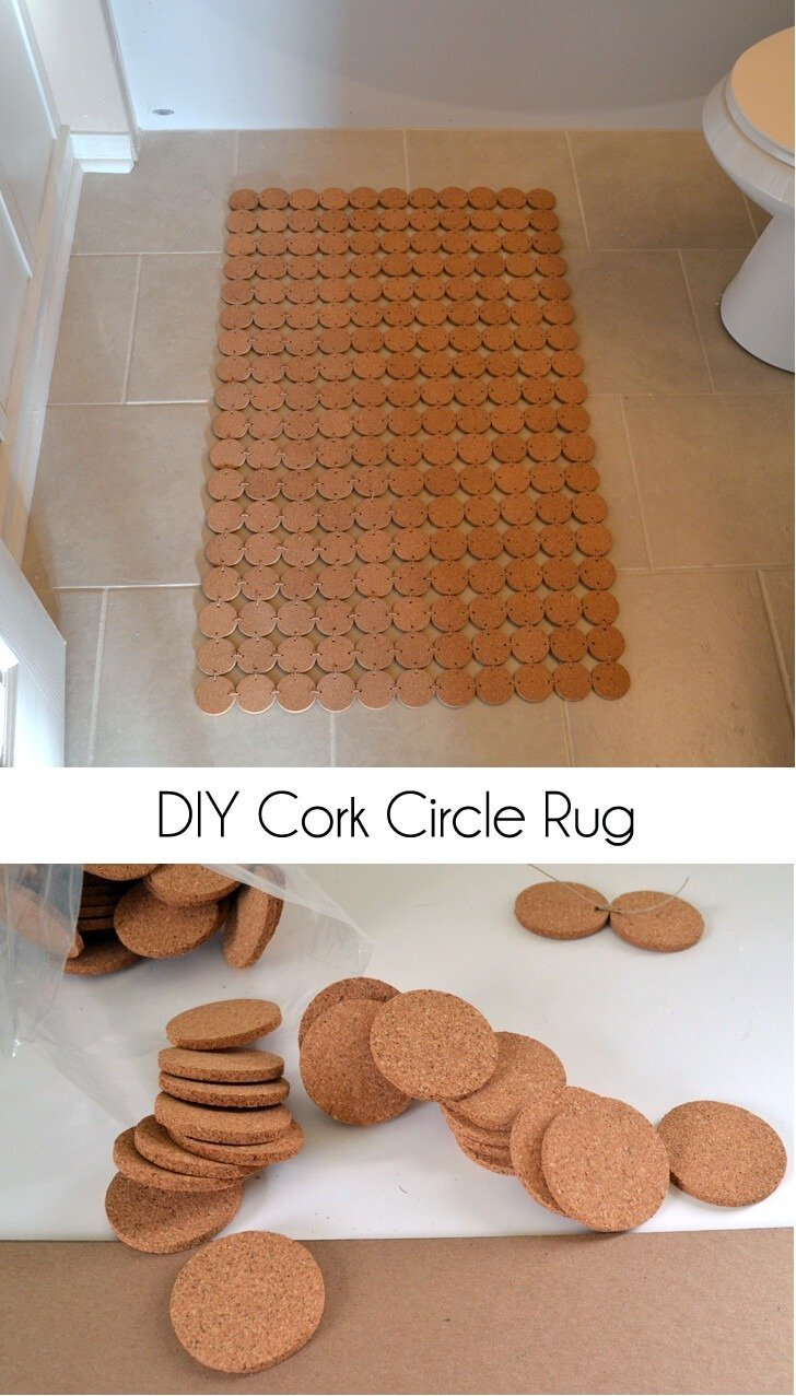 Make a cork rug. So easy!