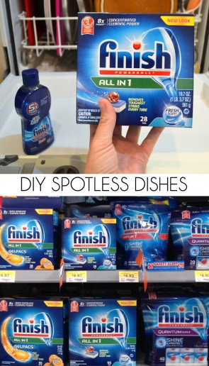 DIY up some spotless dishes so easily with Finish® and Jet Dry available at Walmart! #ad