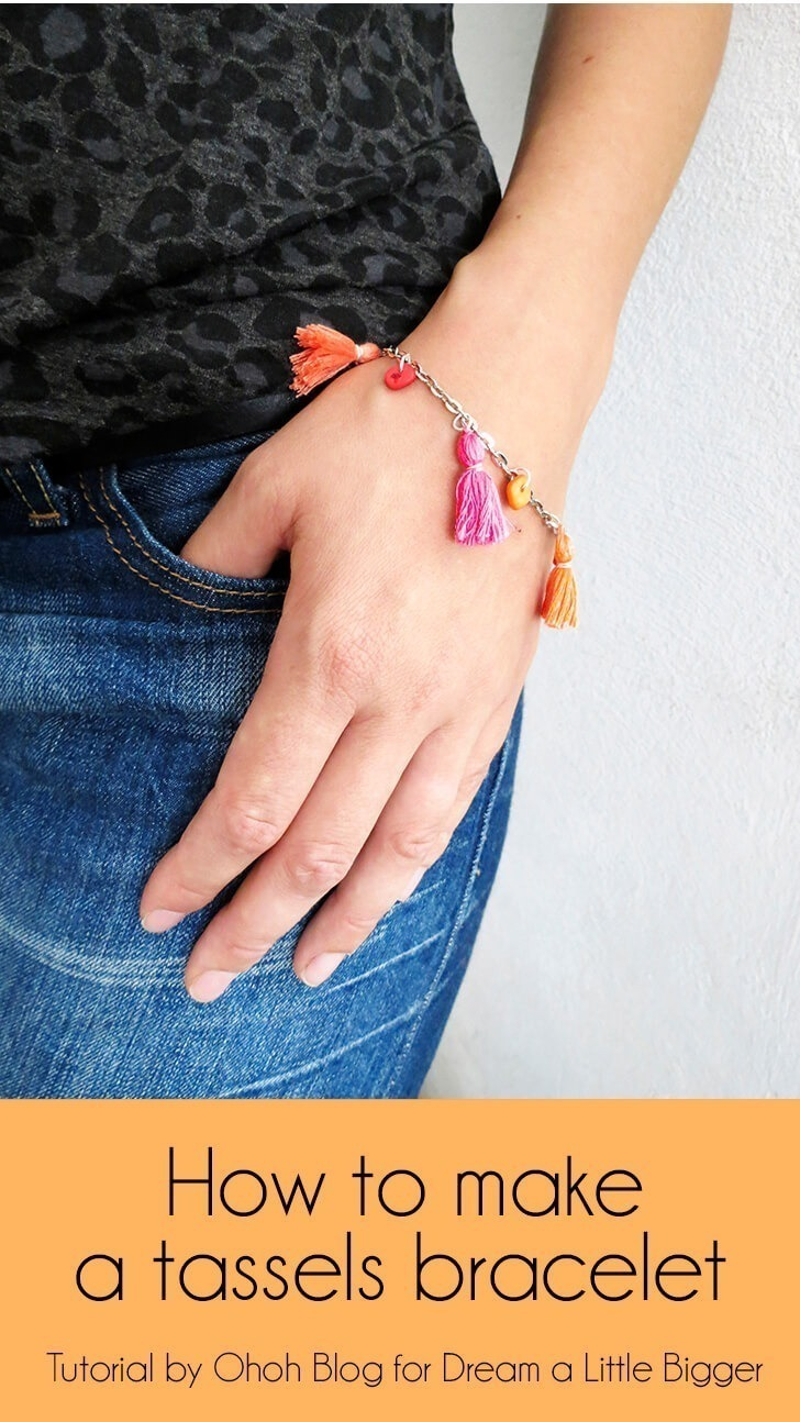 How to make a tassels bracelet
