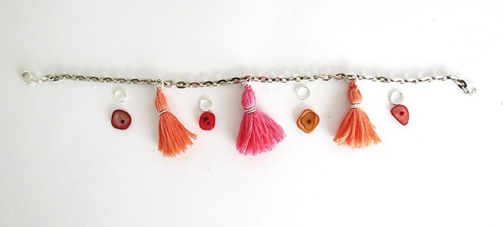 how to make a tassel bracelet by ohohblog 9