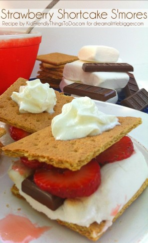 What a tasty twist on a classic! Strawberry shortcake s'mores! :)