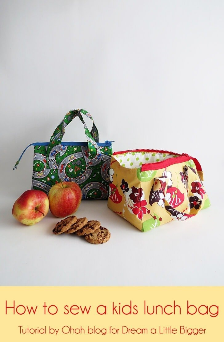 How to sew a kids lunch bag - Dream a Little Bigger