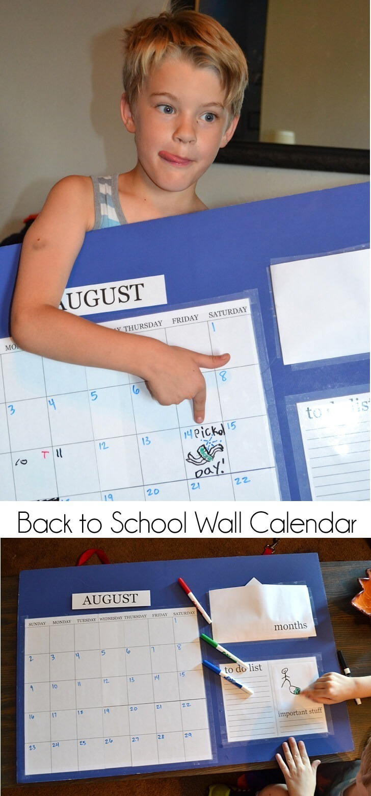 Back to School Wall Calendar