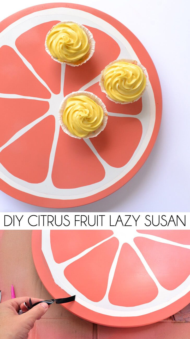 DIY Citrus Fruit Lazy Susan