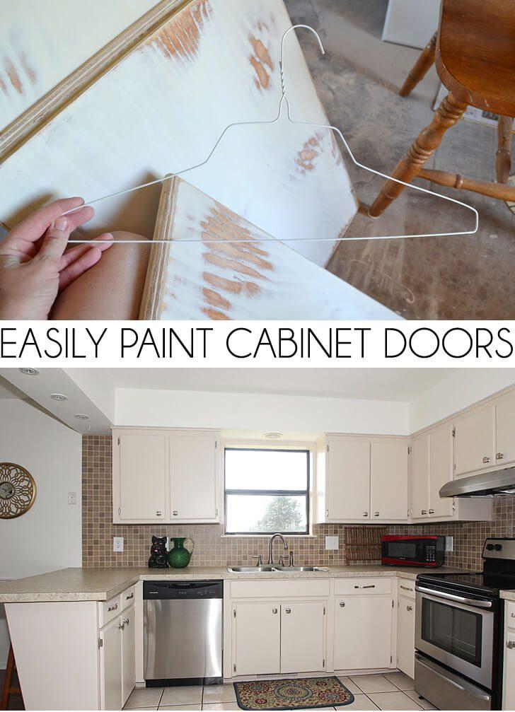 Easily Paint Cabinet Doors DIY