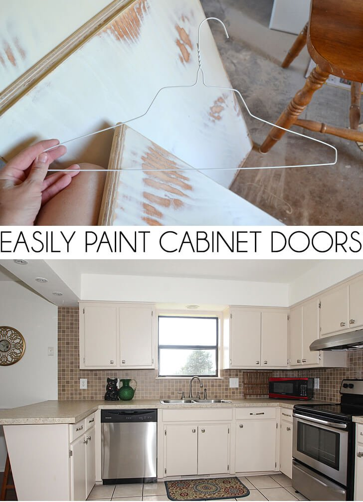 paint kitchen cabinets diy easily paint cabinet doors diy a bigger 24299