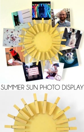 Make this super cute summer sun photo display to show off those awesome summer Instagram pics!