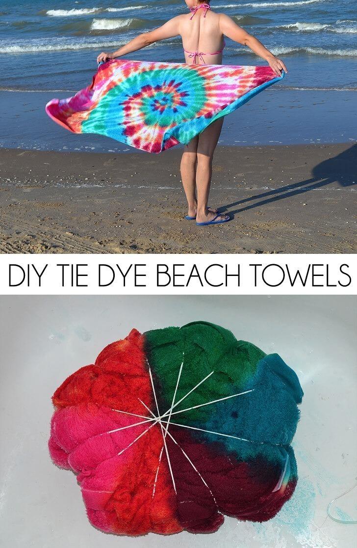 DIY Tie Dye Beach Towel