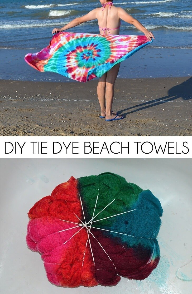 DIY Tie Dye Beach Towel