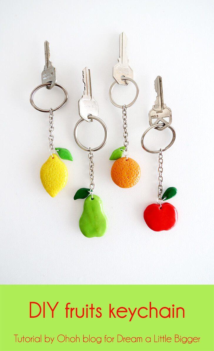 DIY fruits keychain