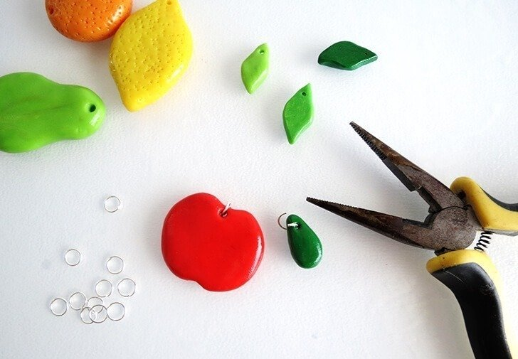 diy clay fruit keychain ohoh blog 14