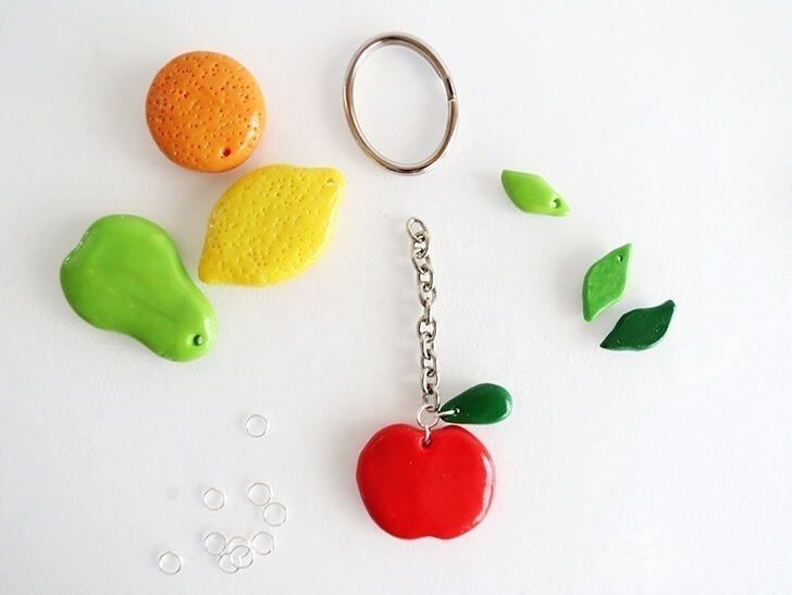 diy clay fruit keychain ohoh blog 15