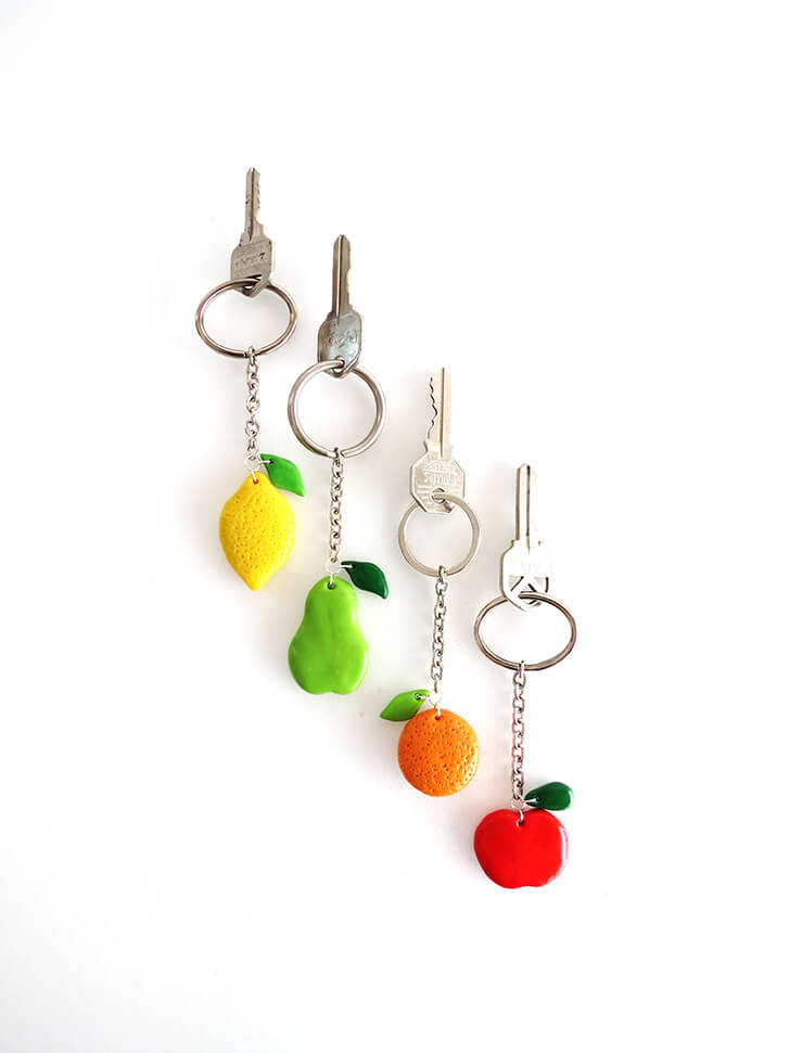 diy clay fruit keychain ohoh blog 16 small