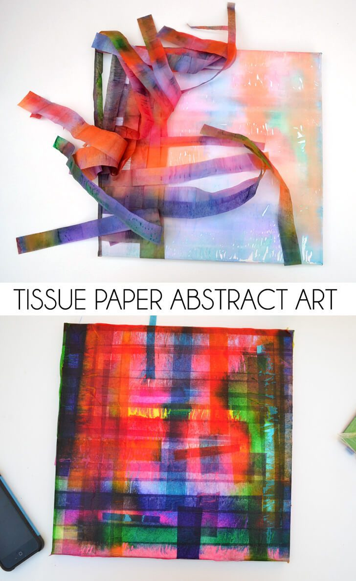 Tissue Paper Abstract Art