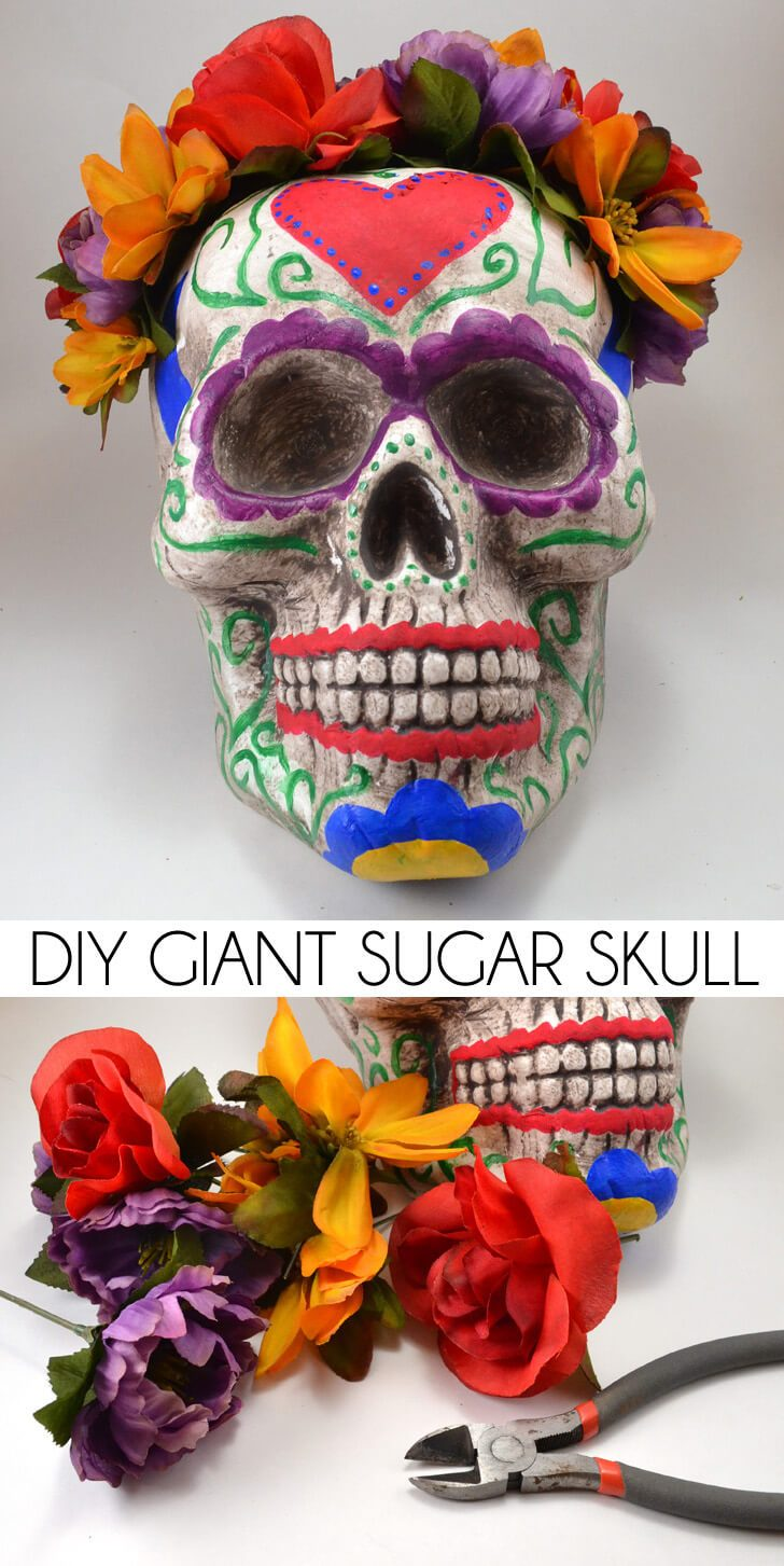 DIY Giant Sugar Skull