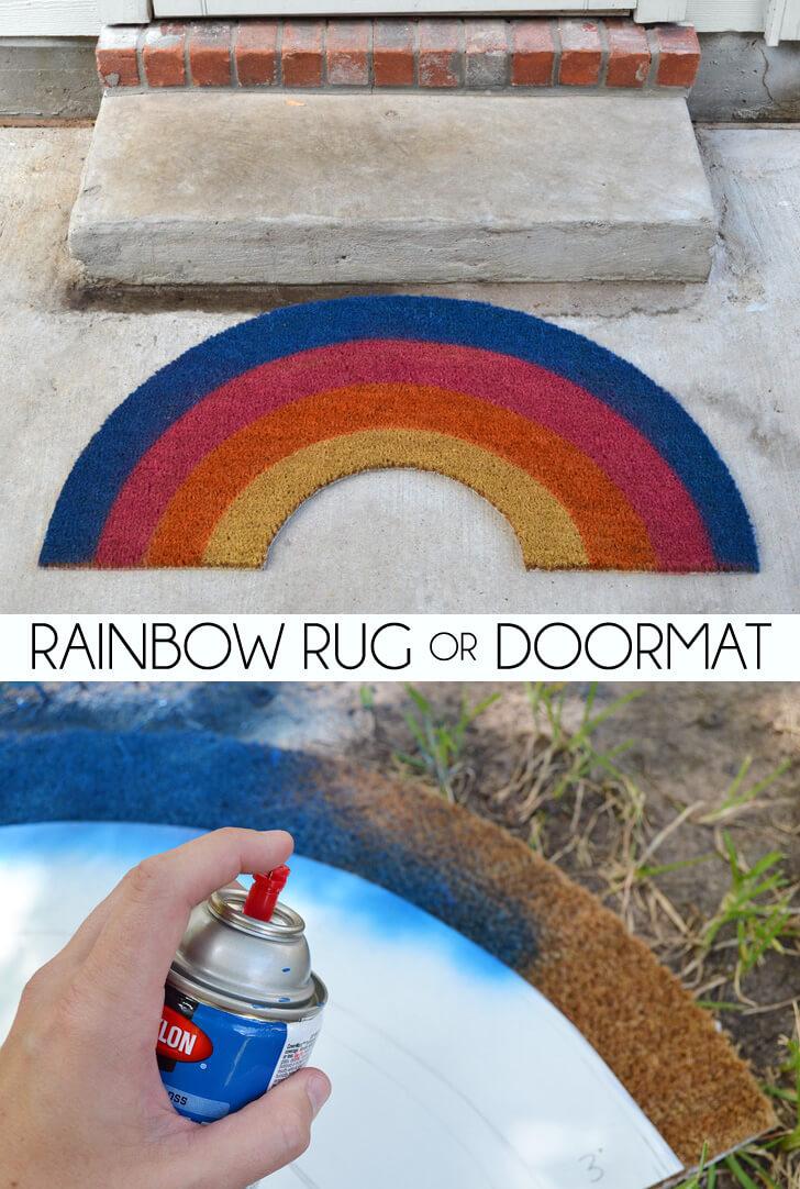 Rainbow Rug Or Doormat Dream A Little Bigger