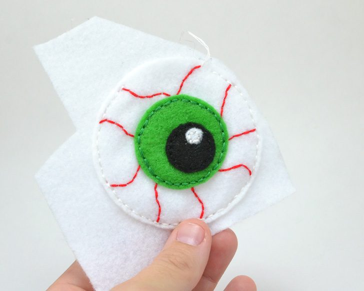 My cats love toys I make for them better than anything from the store. These catnip filled eyeballs are perfect for kitty Halloween!