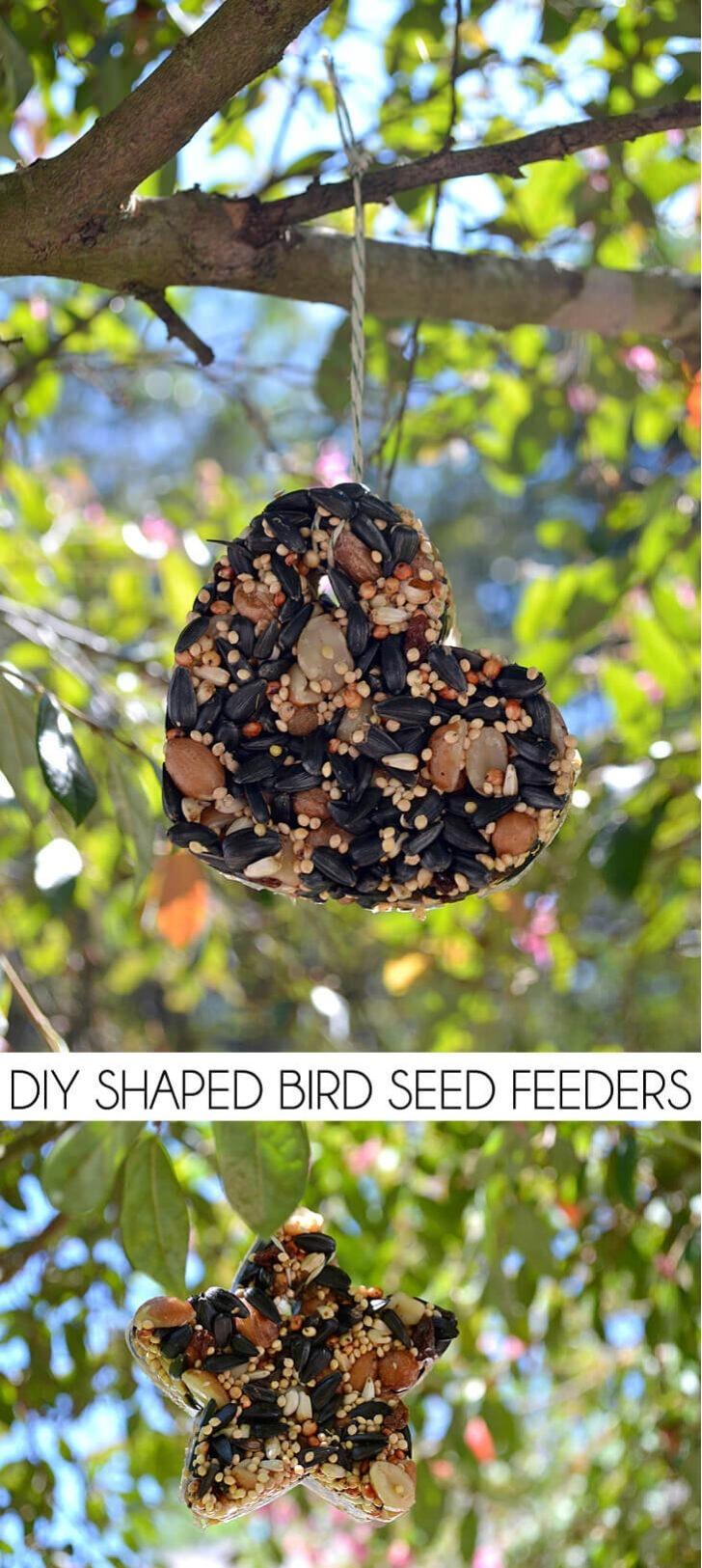 DIY Shaped Birdseed Feeders