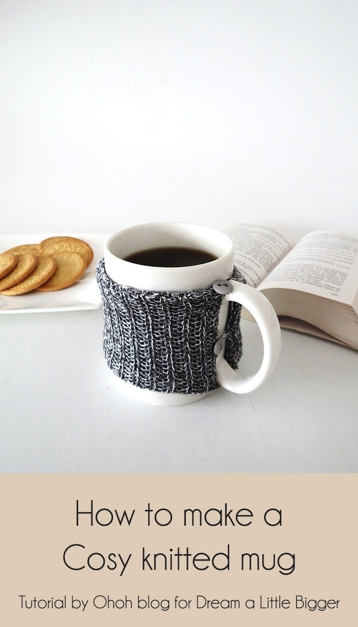 diy cosy knitted mug 1