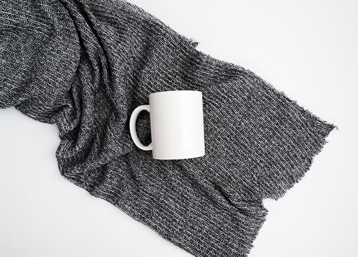 diy cosy knitted mug 2