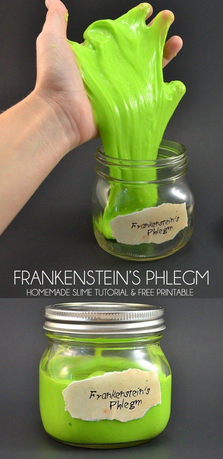 Frankenstein S Phlegm A Homemade Slime Recipe Dream A Little Bigger