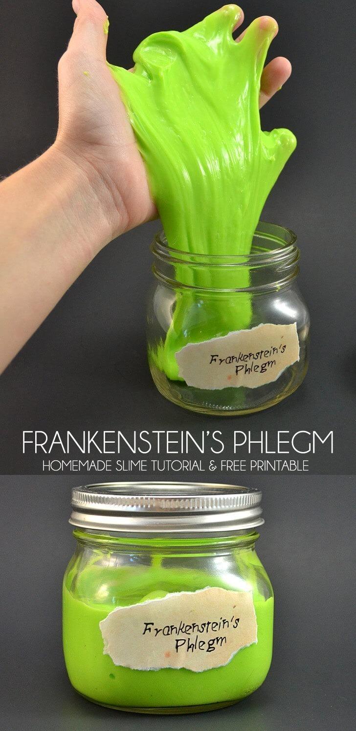Frankenstein's Phlegm – a Homemade Slime Recipe