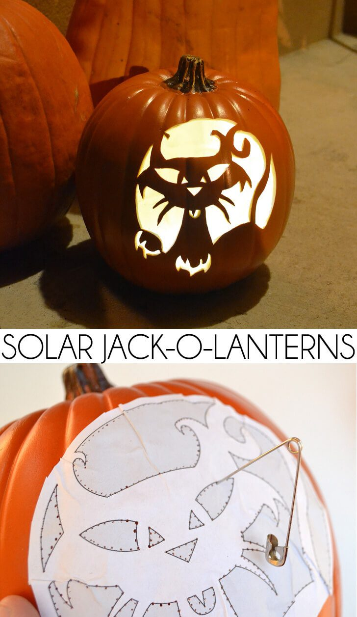 Easy DIY Solar Jack-O-Lantern