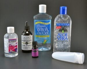 Did you know you can make hand sanitizer at home? Aloe keeps skin hydrated and less alcohol keeps from drying them out in the first place.