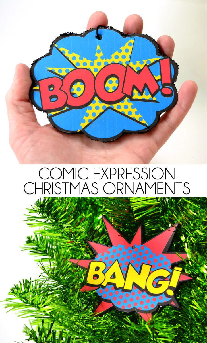 Comic Expressions Christmas Ornaments – Free Printable