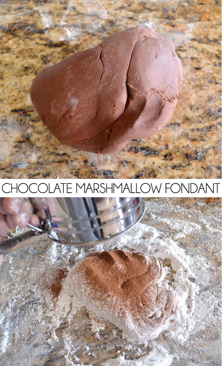 How to make chocolate marshmallow fondant at home.