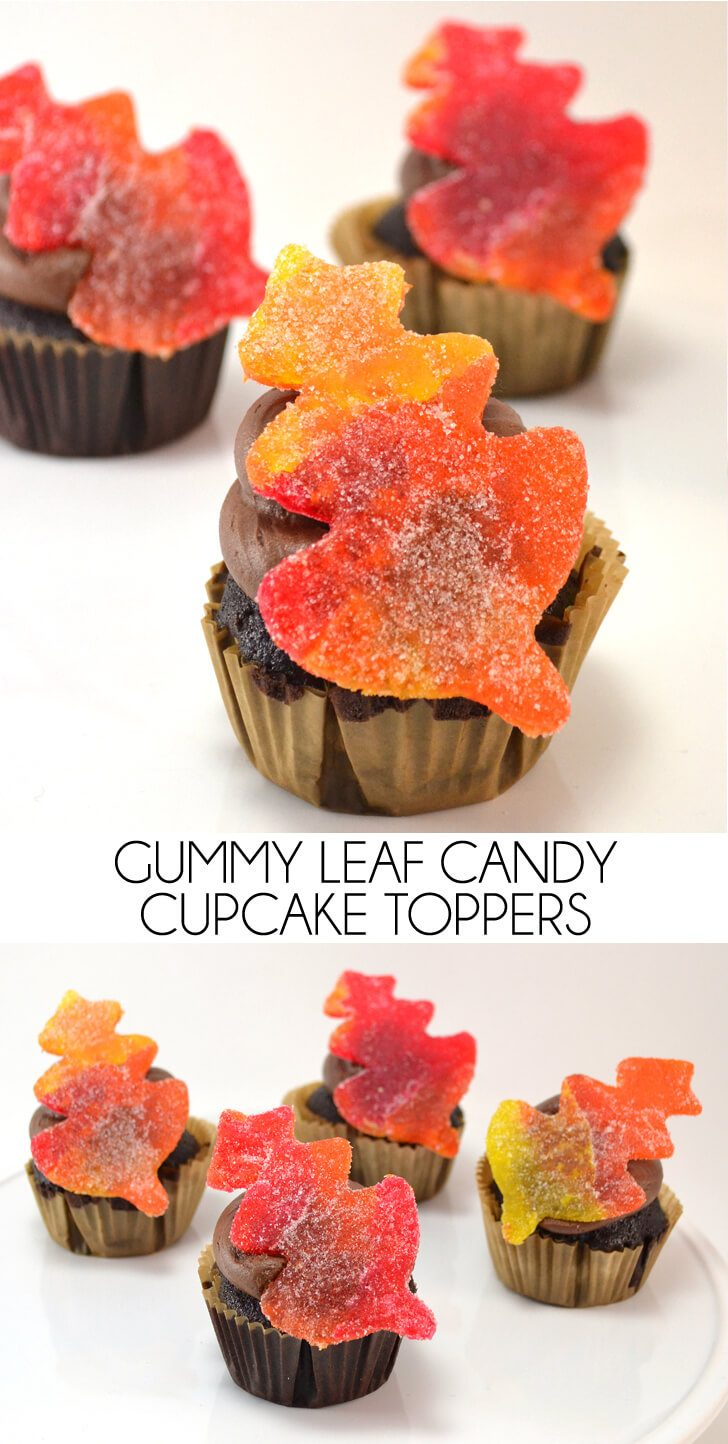 Gummy Leaf Candy Cupcake Toppers