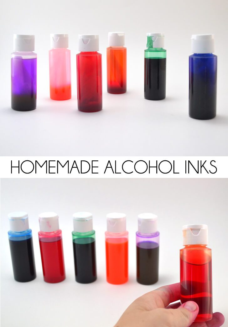Homemade Alcohol Inks