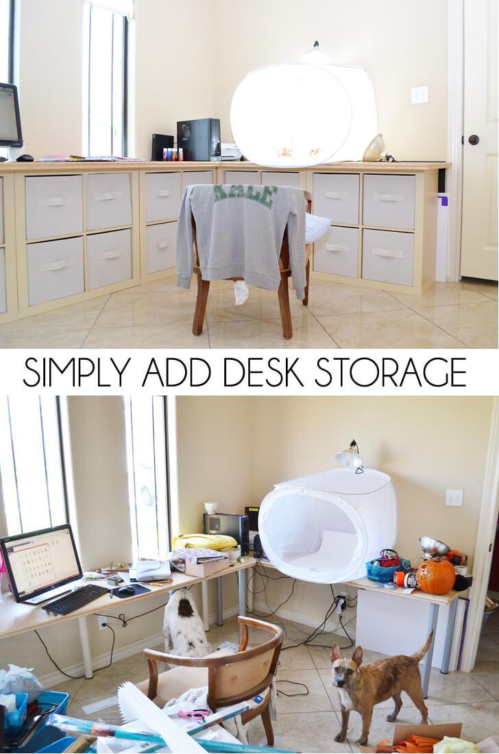 Simply Add Desk Storage