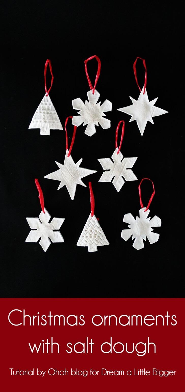 How To Make Christmas Ornament With Salt Dough Dream A