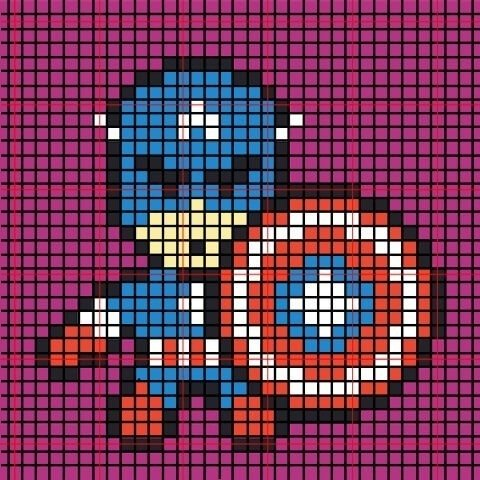 These Perler bead superheroes make amazing Christmas ornaments! The kids will want to get involved too! Captain America!