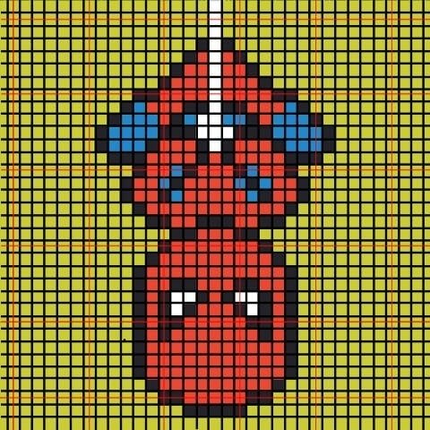 These Perler bead superheroes make amazing Christmas ornaments! The kids will want to get involved too! Spiderman!