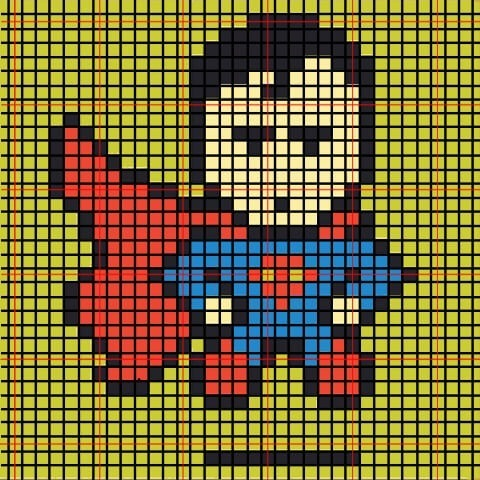 These Perler bead superheroes make amazing Christmas ornaments! The kids will want to get involved too! Superman!