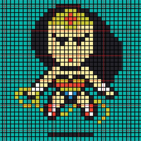 These Perler bead superheroes make amazing Christmas ornaments! The kids will want to get involved too! Wonder Woman!